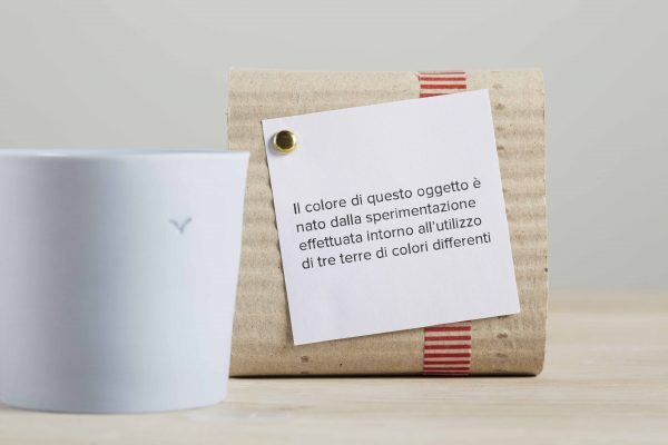 a light blue porcelain cup and its package - handmade - Federica Ramacciotti