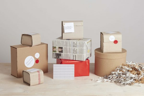 boxes, cardboard and wrapping paper - handmade - Federica Ramacciotti