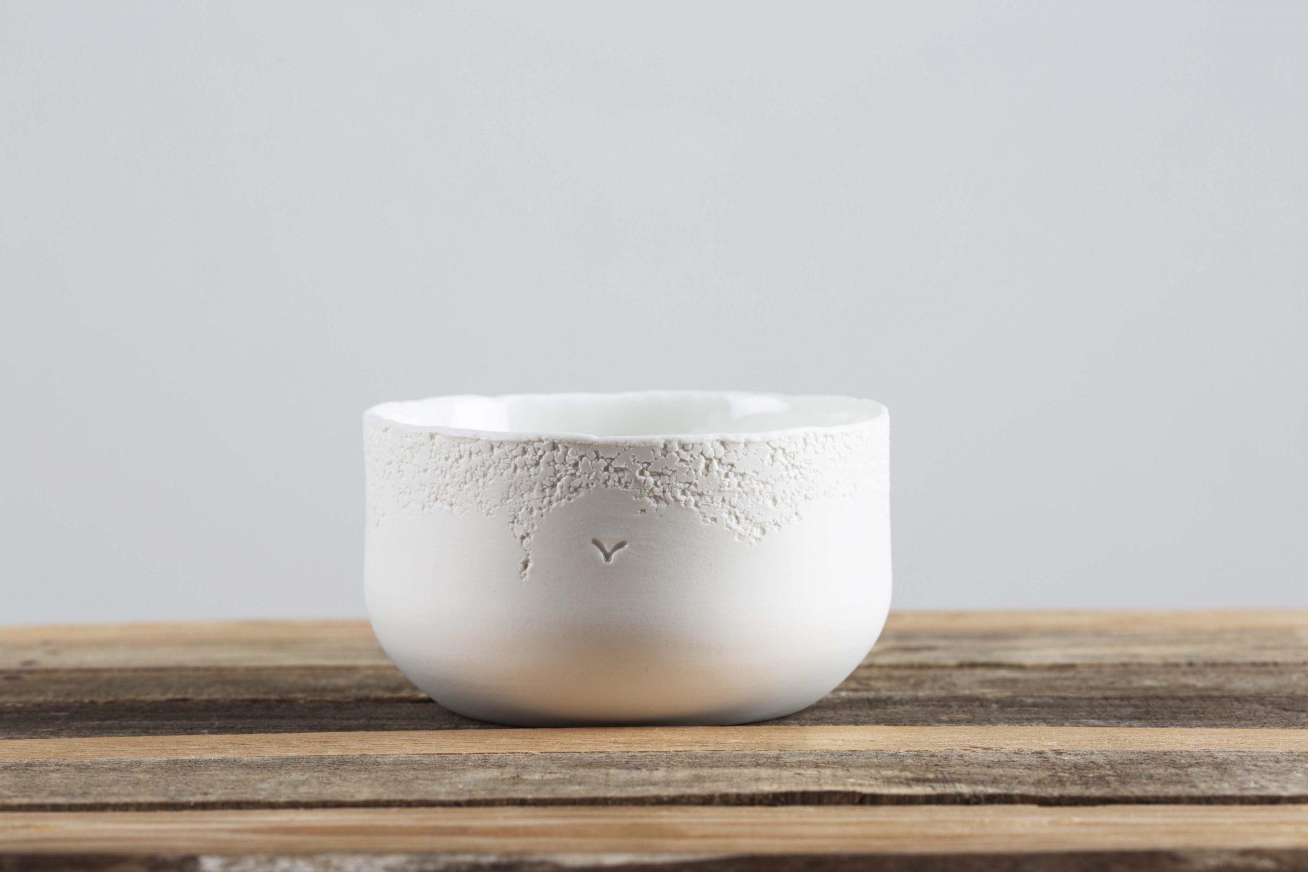 ciotola in ceramica con lavorazione sul bordo - artigianale - Federica Ramacciotti