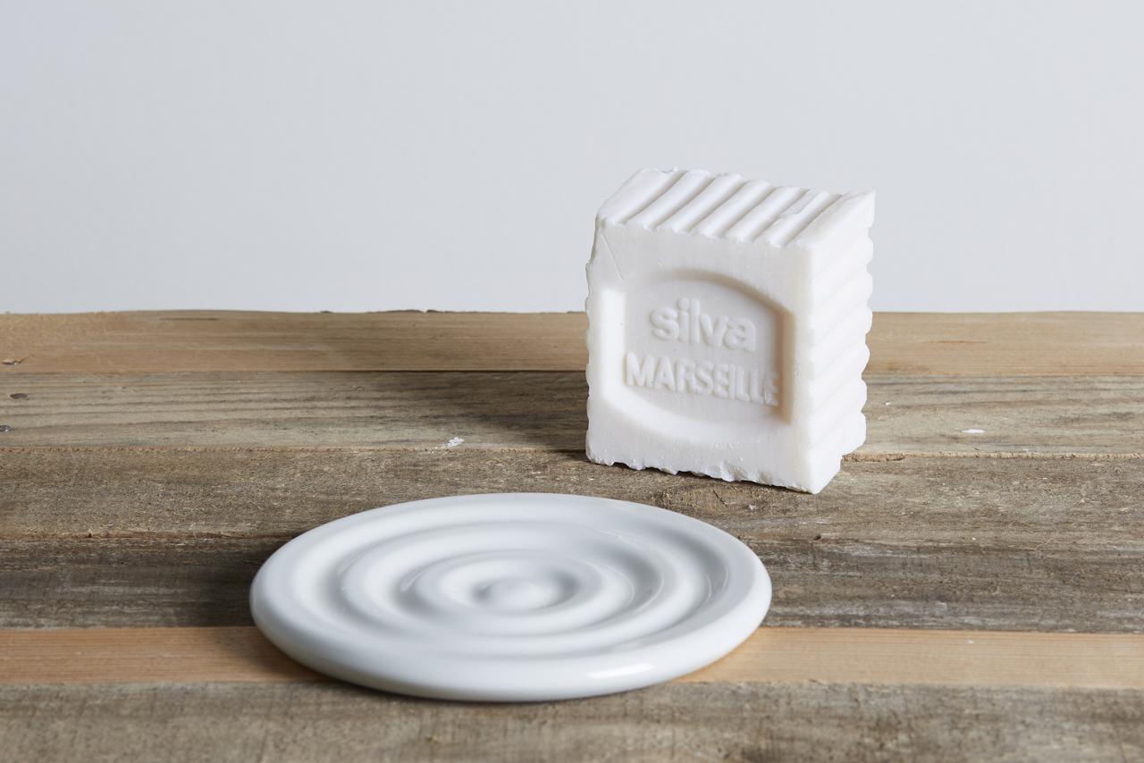 portasapone in ceramica bianca - artigianale - Federica Ramacciotti